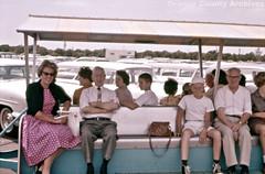 Disneyland parking lot tram, 1961