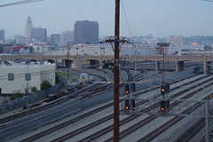 View into the Train Yard from the 6th St. Bridge