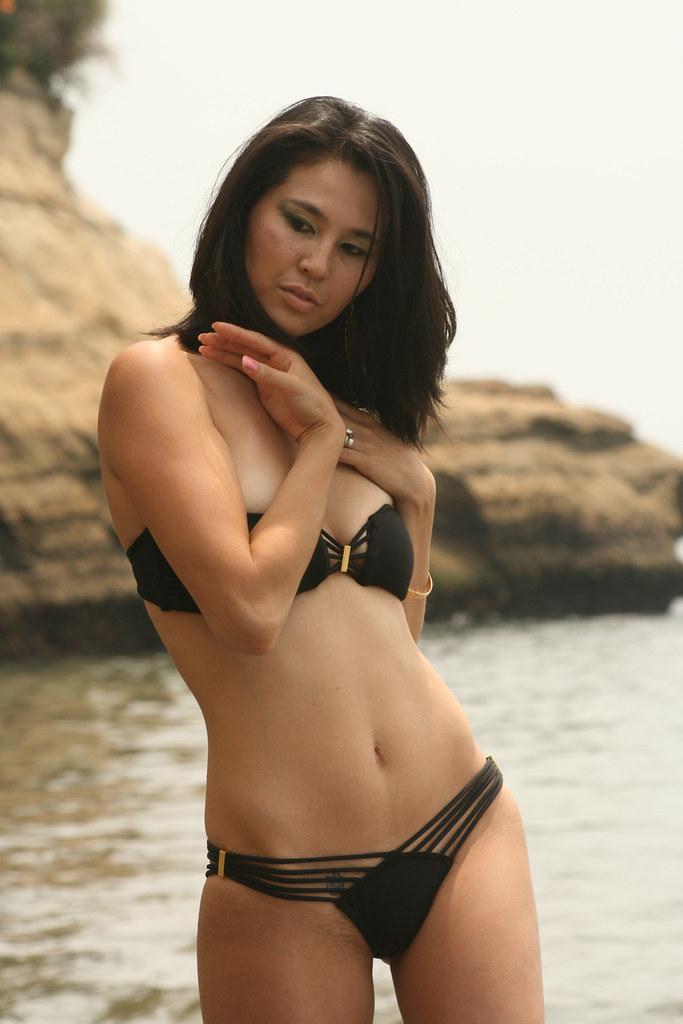 Asian bikini girl thong