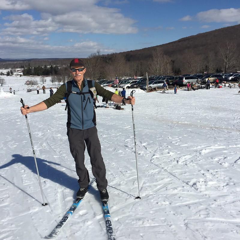 Hubz on Nordic skis