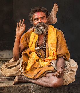 A Sadhu, a Holy Man in Swayambunat /Kathmandu