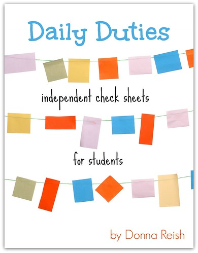 Daily Duties Independent Check Sheets for Students - book cover