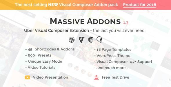 Codecanyon Visual Composer Extensions - Massive Addons v1.3.2