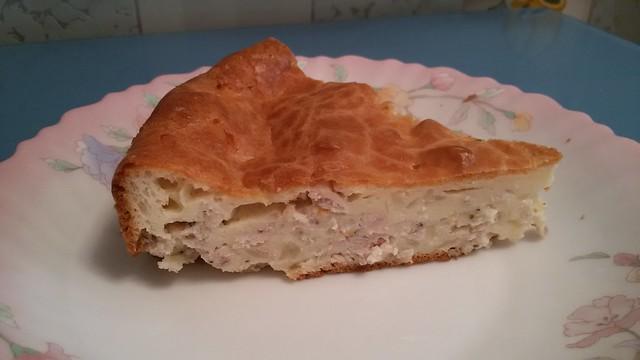 пирожок с капустой и курицей