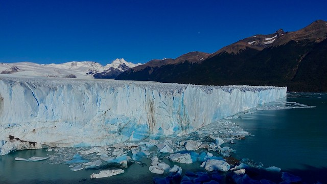 Face of Perito Moreno glacier from the balcony viewpoint