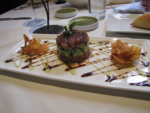 Ahi Tuna & Salmon TarTar at Portabella in Carmel-by-the-Sea