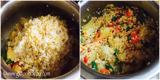 Vegetables Dal Khichdi Recipe for Babies, Toddlers and Kids - step 5