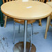 Beech and chrome circular table