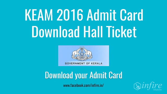 KEAM 2016 Admit Card – Download Hall Ticket