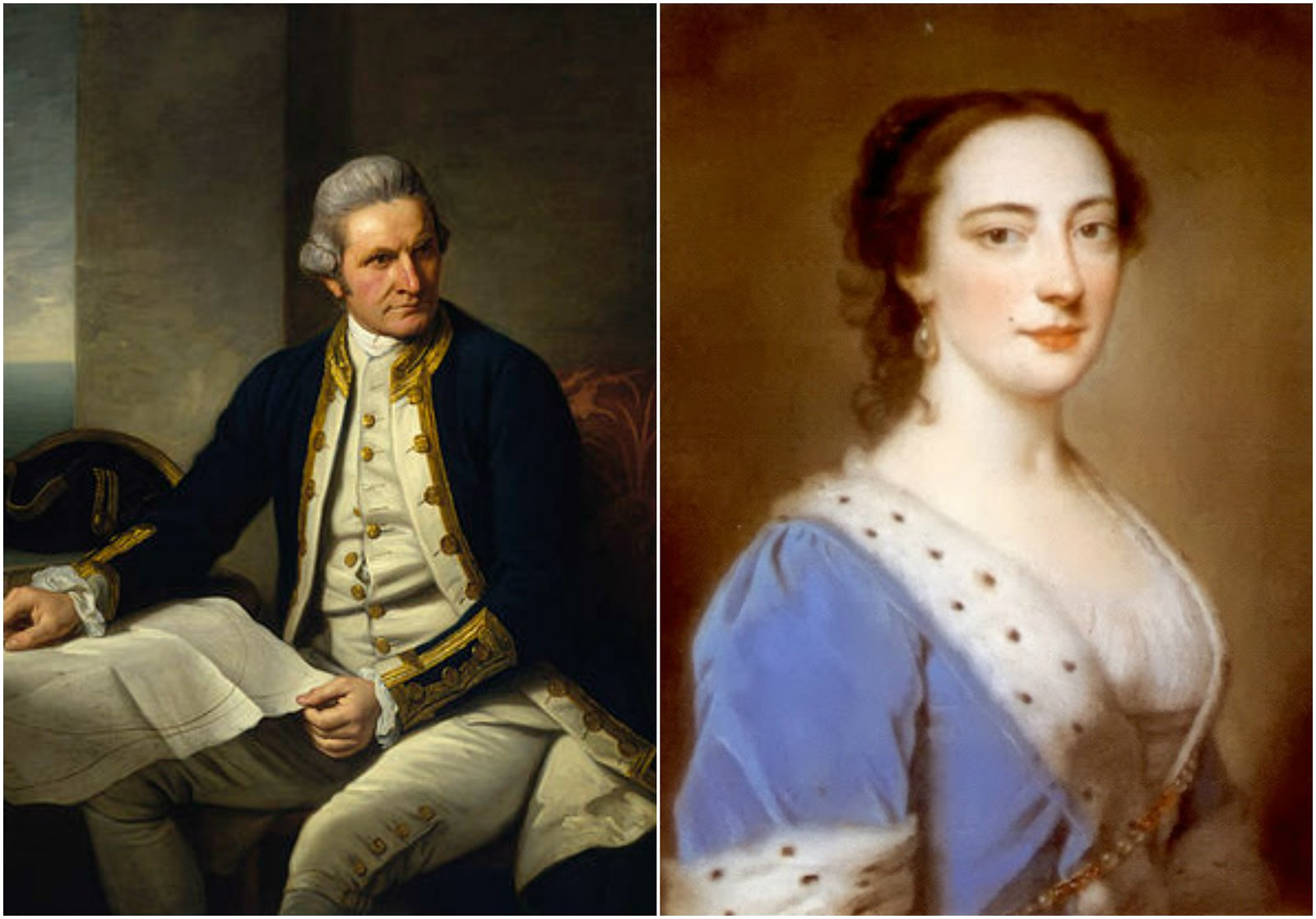 Captain James Cook by Nathaniel Dance-Holland. Mary Howard, Duchess of Norfolk by James Hoare
