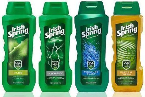 Softsoap and Irish Spring