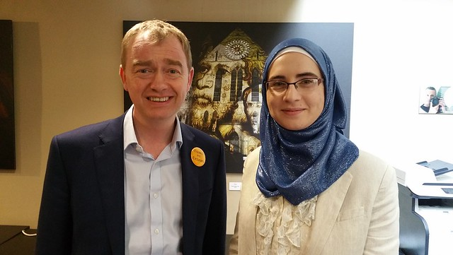 Meeting with Tim Farron MP at Lib-Dem York Conf 12 March 2016