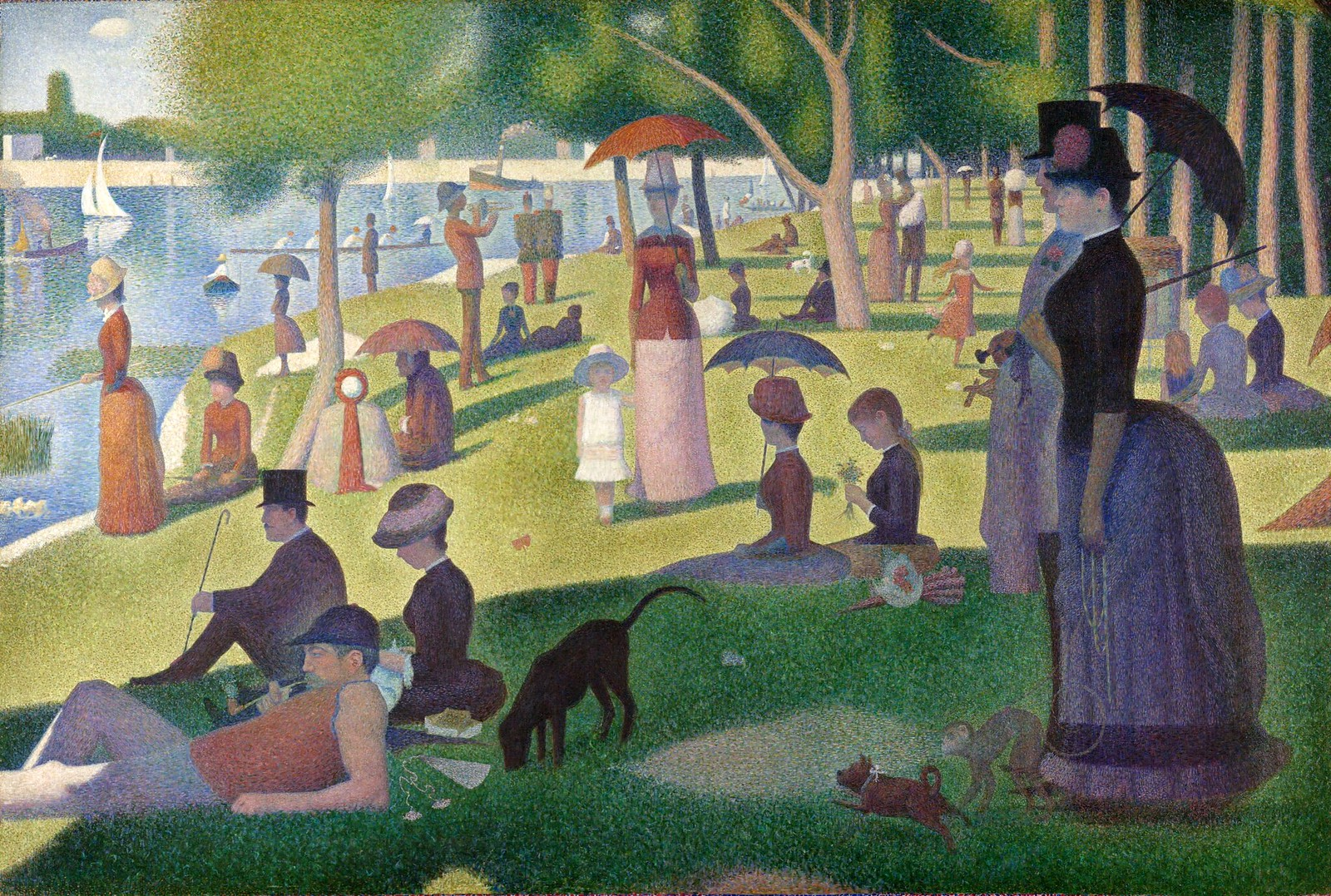 A Sunday on La Grande Jatte by Georges Seurat, 1884