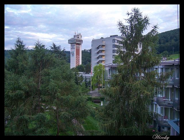 7 curiosidades verano trabajé Bad Zurzach - Torre del balneario termal de Bad Zurzach