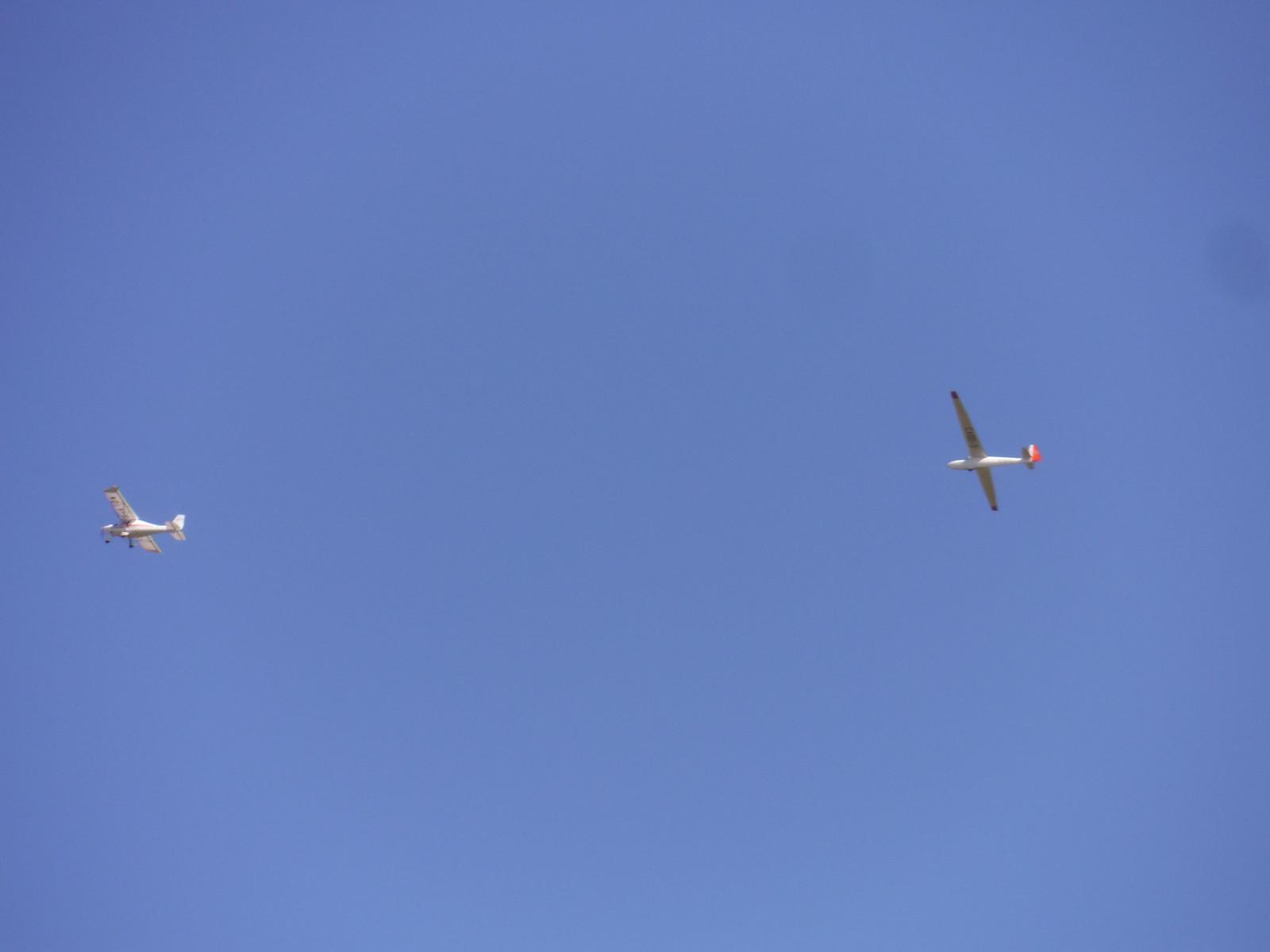 Glider being launched from Haddenham airfield SWC Walk 193 Haddenham to Aylesbury (via Gibraltar and Ford)