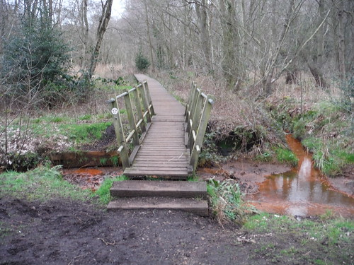 Turn left at this bridge for the heart of Flitwick Moor