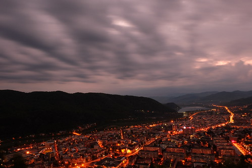 night clouds spring shot romania piatra neam