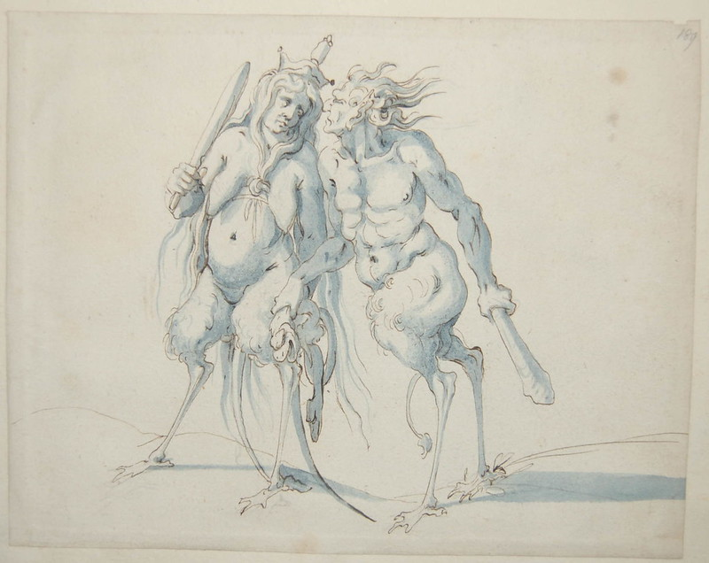 Arent van Bolten - Monster 189, from collection of 425 drawings, 1588-1633