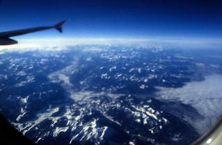 Ägypten 1999 (001) Flug über die Alpen