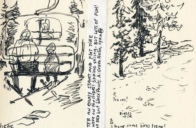 Sketchbook #95: Last Skiing Sketches of the Season