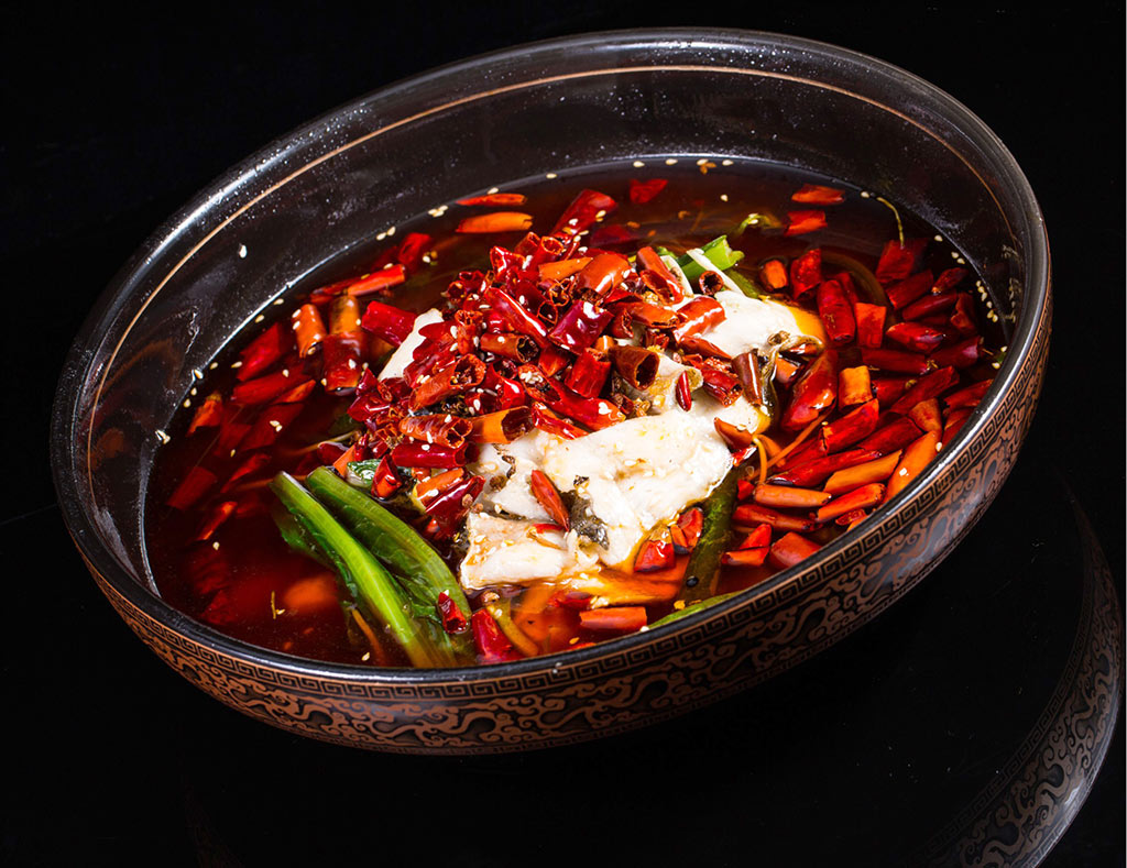 Szechuan-braised-fish-with-golden-mushrooms-and-spicy-broth