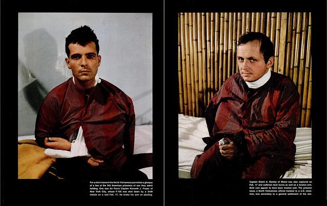 LIFE Magazine 7 Apr 1972 - US POWs Kenneth J. Fraser and Edwin A. Hawley