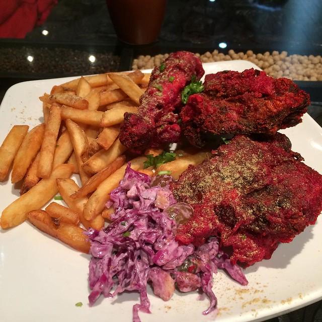 Tandoori fried chicken - new on the menu @naanolicious #yegfood