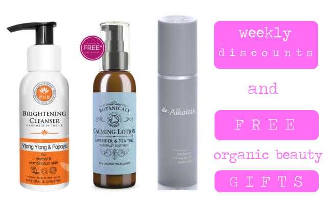 Weekly Discounts and Free Organic Beauty Gifts #48