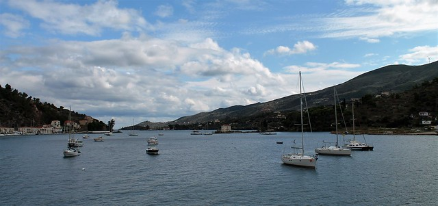 entering Poros Greece