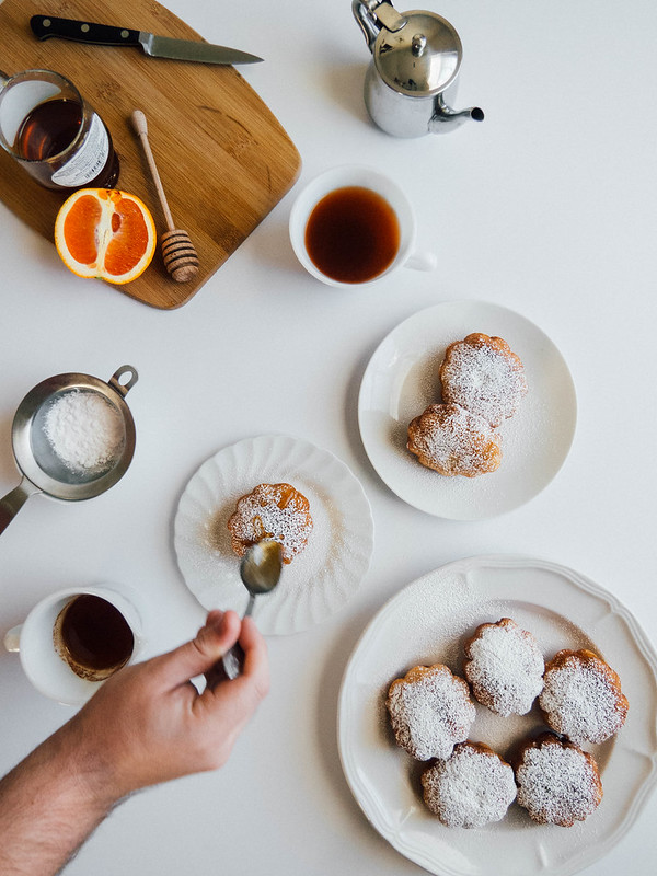 Beignets with Orange Spiced Wildflower Honey