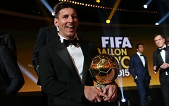 Lionel Messi won Fifth Ballon D'Or Award
