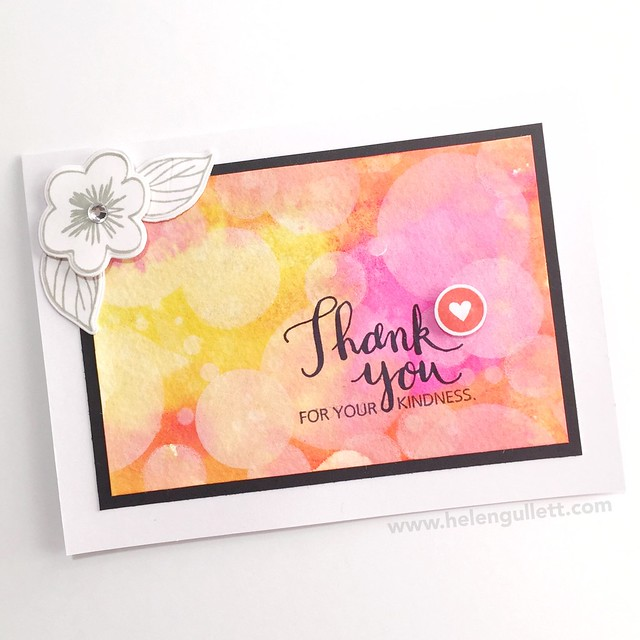 January CTMH Technique Blog Hop - Boleh Stamping: Thank You Card --> http://helengullett.com/?p=8308 #ctmh #ctmhthincuts #ctmhnewyear #closetomyheart #ctmhspringwishes #handmadecard #cardmaking #watercoloring #bokehtechnique #diecutting #wrmk #wermemorykeepers #evolutionadvanced