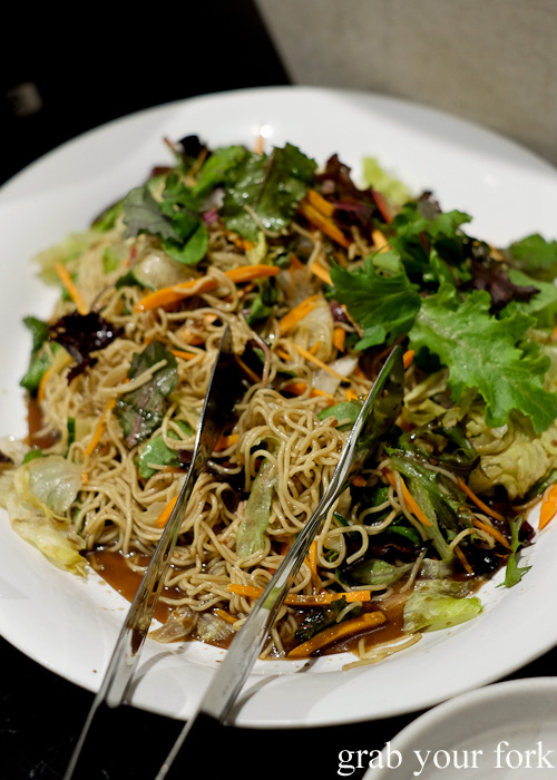 Noodle salad at the all you can eat Korean lunch buffet at The Bab, Haymarket