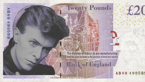David Bowie 20 pound note design