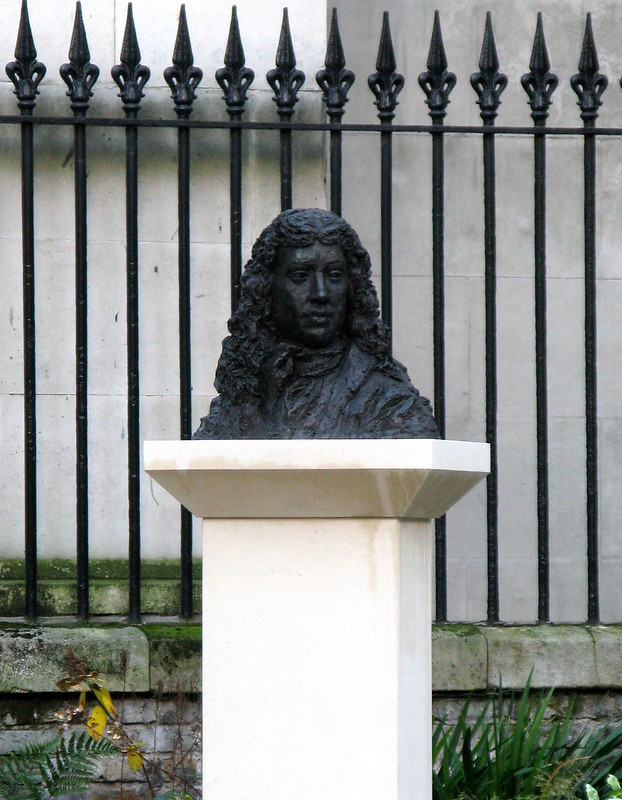 Pepys bust at St. Olave's
