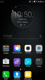 Home screen ของ Lenovo Vibe Shot