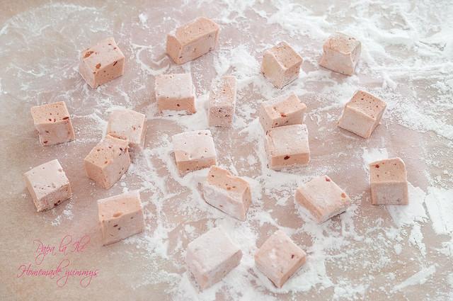 Marshmallow cu zmeura si prosecco