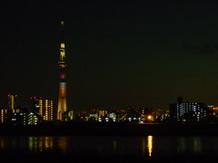 Arakawa River at twilight