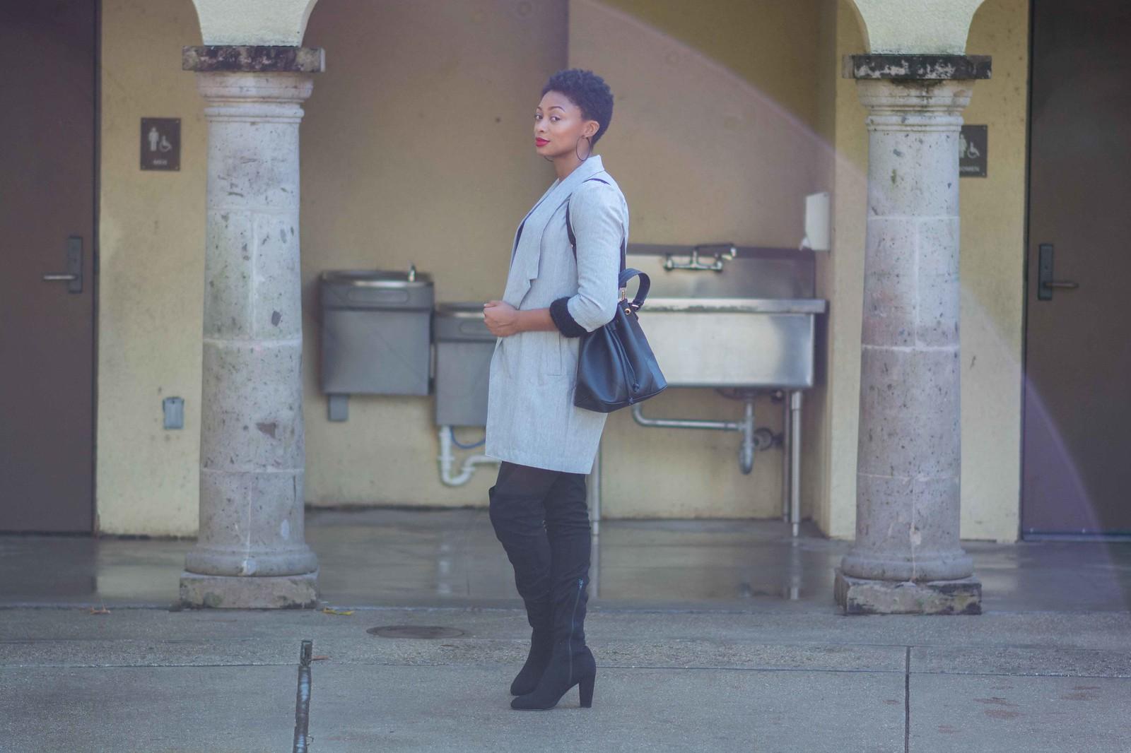 how to style a longline blazer