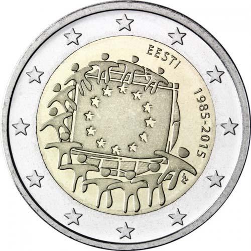 2 Euro Estónsko 2015, Vlajka EÚ