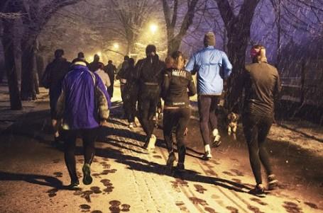 Vězně od tréninku na Yellow Ribbon Run neodradilo ani psí počasí
