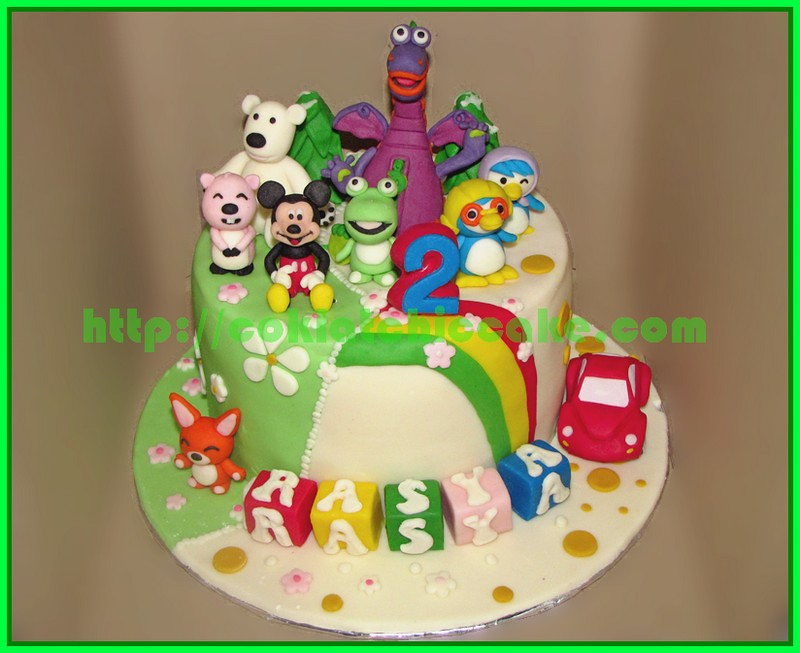 Cake Dibo Mickey Pororo & Friends