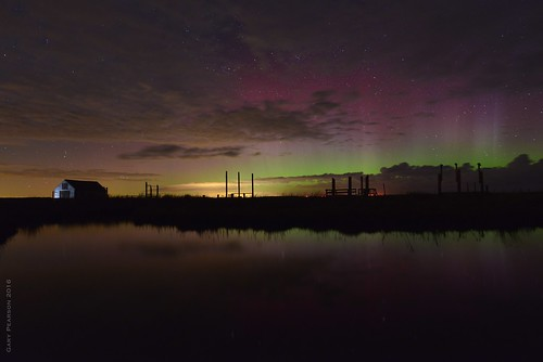 Aurora over Thornham 7.4.16