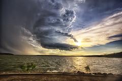 Storm spin begins
