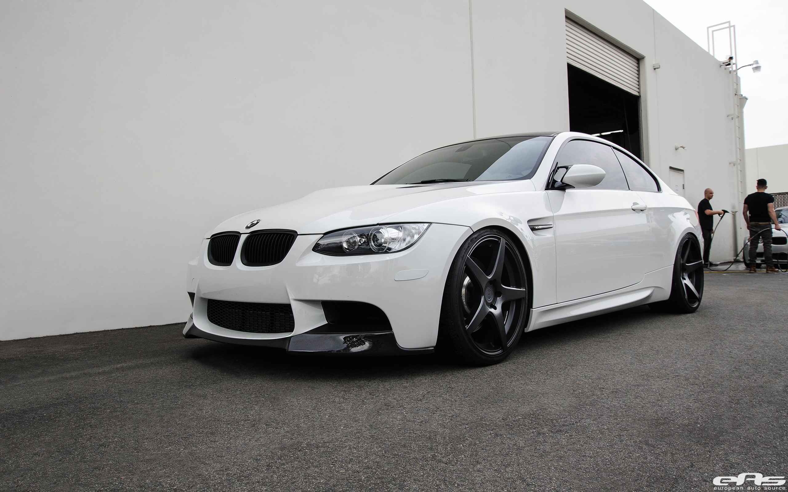 Alpine white e92 m3 rocking adv1 wheels