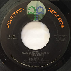 THE UNIFICTS:FUNKY THING(LABEL SIDE-A)