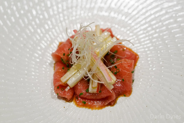 Carpaccio of Toro Tuna with Bitter Salad