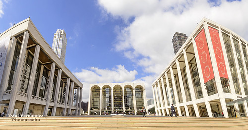 Panorama of Lincoln Center for the Performing Arts, New York
