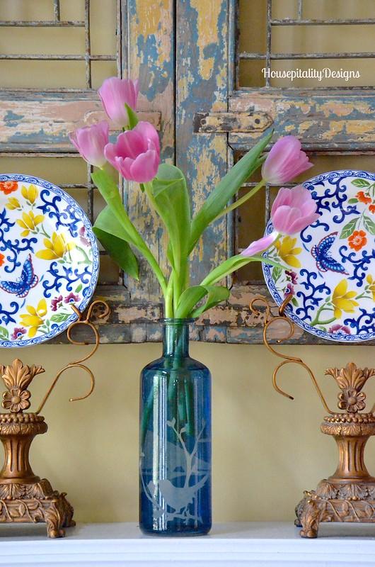 Spring Mantel/Ralph Lauren Plates - Housepitality Designs
