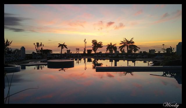 Tenerife Parque Nacional Teide Valle la Orotava - Atardecer desde piscina del hotel